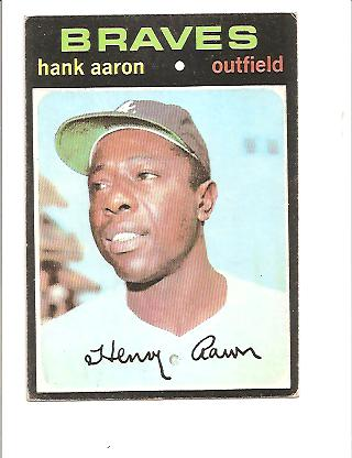 1971 Topps #400 Hank Aaron