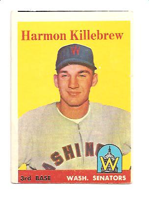 1958 Topps #288 Harmon Killebrew