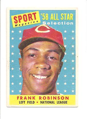 1958 Topps #484 Frank Robinson AS front image