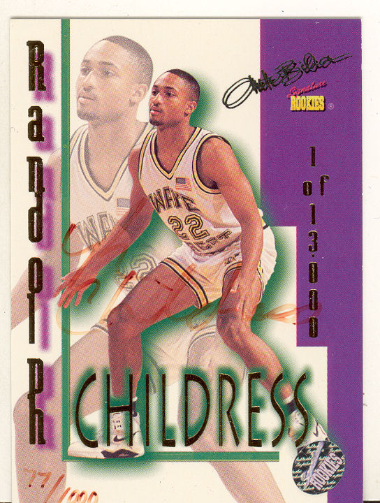 1995 Signature Rookies Autobilia Autographs #19 Randolph Childress