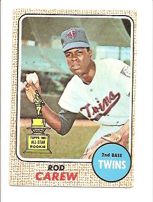1968 Topps #80 Rod Carew EX Actual scan
