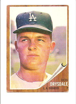 1962 Topps #340 Don Drysdale