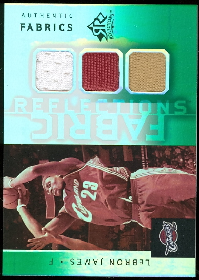 2005-06 Reflections Fabrics Triple Swatch Green #LJ LeBron James