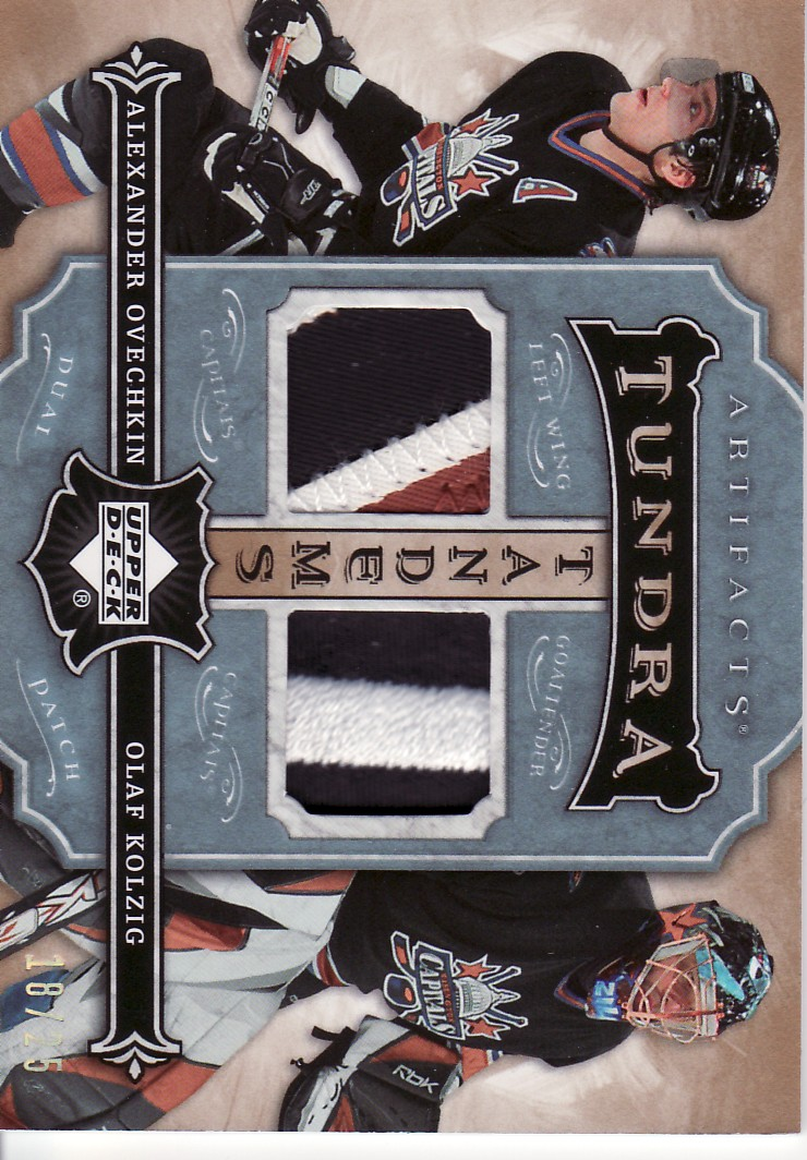 2007-08 Artifacts Tundra Tandems Patches Icy Blue #TTOK Alexander Ovechkin/Olaf Kolzig