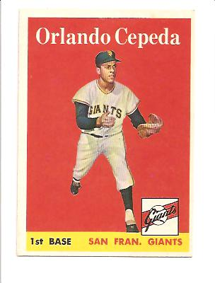 1958 Topps #343 Orlando Cepeda RC