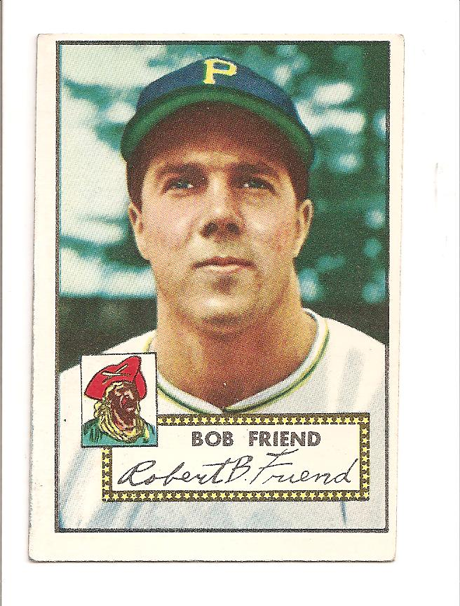 1952 Topps #233 Bob Friend RC