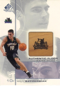 2000-01 SP Game Floor Authentic Floor #WS Wally Szczerbiak