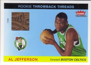 2004-05 Fleer Tradition Rookie Throwback Threads Ball #12 Al Jefferson