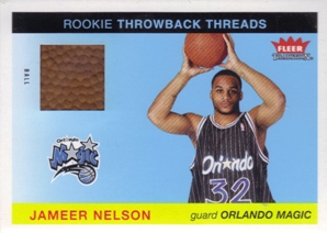 2004-05 Fleer Tradition Rookie Throwback Threads Ball #17 Jameer Nelson