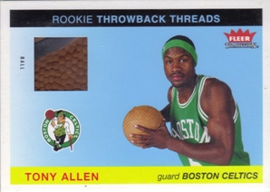 2004-05 Fleer Tradition Rookie Throwback Threads Ball #19 Tony Allen