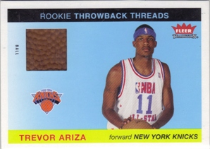 2004-05 Fleer Tradition Rookie Throwback Threads Ball #24 Trevor Ariza