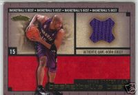 2003-04 Fleer Showcase Basketball's Best Memorabilia Gold #4 Vince Carter