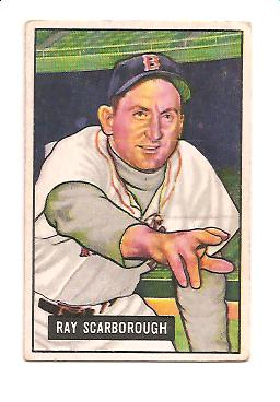 1951 Bowman #39 Ray Scarborough
