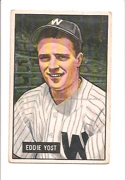 1951 Bowman #41 Eddie Yost front image