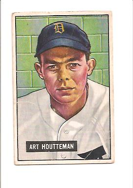 1951 Bowman #45 Art Houtteman