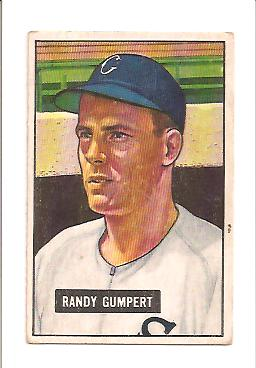 1951 Bowman #59 Randy Gumpert