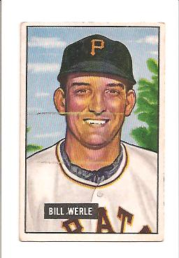 1951 Bowman #64 Bill Werle