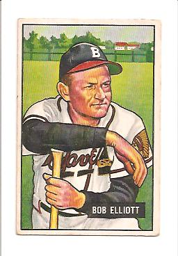 1951 Bowman #66 Bob Elliott