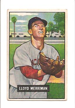 1951 Bowman #72 Lloyd Merriman