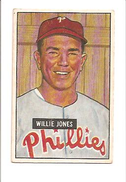 1951 Bowman #112 Willie Jones