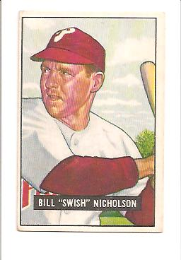 1951 Bowman #113 Bill Nicholson