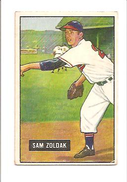 1951 Bowman #114 Sam Zoldak