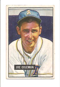 1951 Bowman #120 Joe Coleman