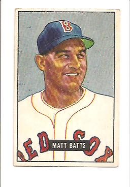1951 Bowman #129 Matt Batts