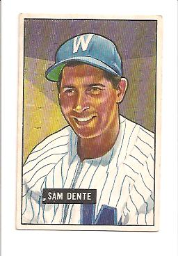1951 Bowman #133 Sam Dente