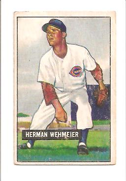 1951 Bowman #144 Herman Wehmeier