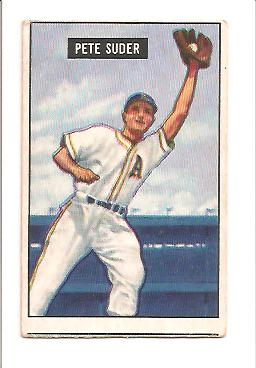 1951 Bowman #154 Pete Suder