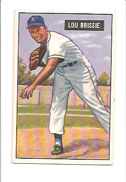 1951 Bowman #155 Lou Brissie