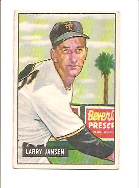 1951 Bowman #162 Larry Jansen