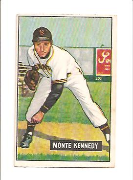 1951 Bowman #163 Monte Kennedy