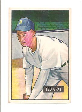 1951 Bowman #178 Ted Gray