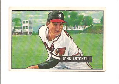 1951 Bowman #243 Johnny Antonelli