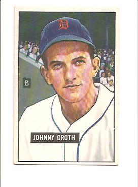 1951 Bowman #249 Johnny Groth