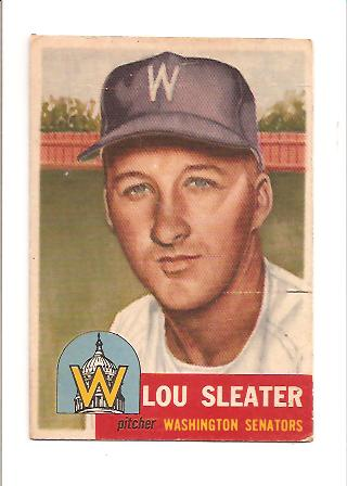 1953 Topps #224 Lou Sleater DP