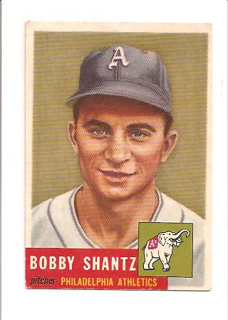 1953 Topps #225 Bobby Shantz