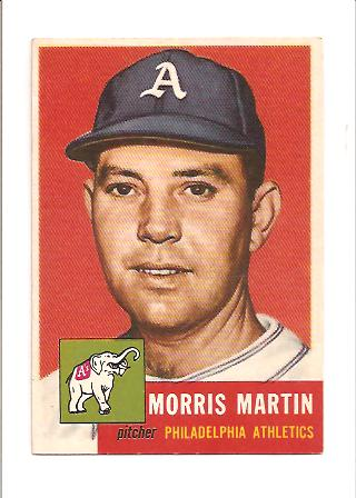 1953 Topps #227 Morrie Martin