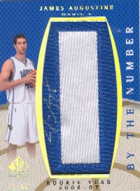 2007-08  SP Authentic By The Numbers James Augustine # / 50 