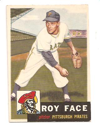 1953 Topps #246 Roy Face DP RC