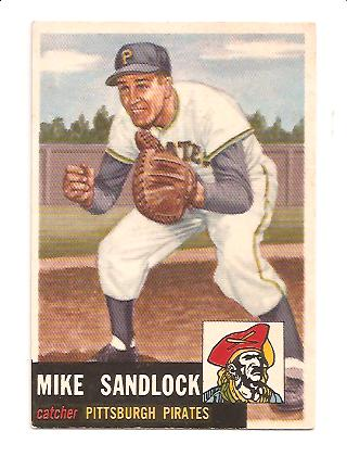 1953 Topps #247 Mike Sandlock DP RC