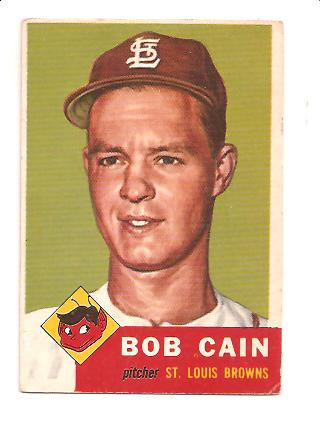 1953 Topps #266 Bob Cain