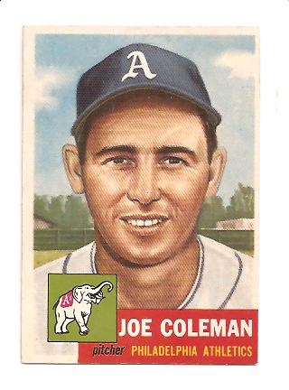 1953 Topps #279 Joe Coleman DP