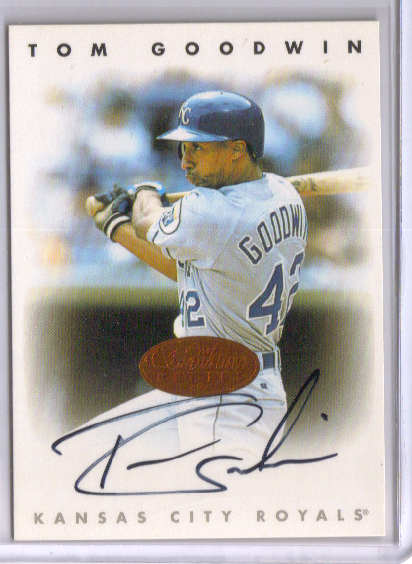 1996 Leaf Signature Autographs #82 Tom Goodwin front image