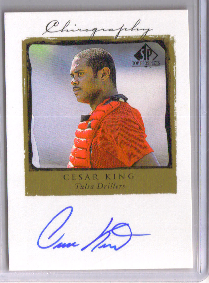 1999 SP Top Prospects Chirography #CK Cesar King front image