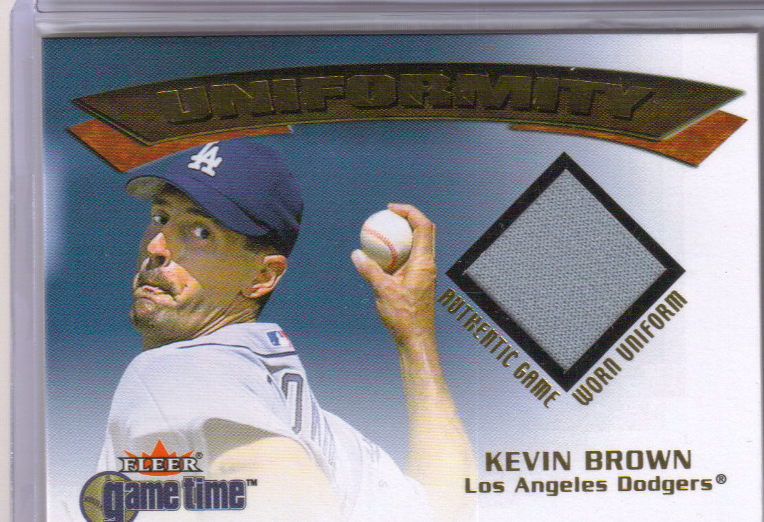 2001 Fleer Game Time Uniformity #2 Kevin Brown front image