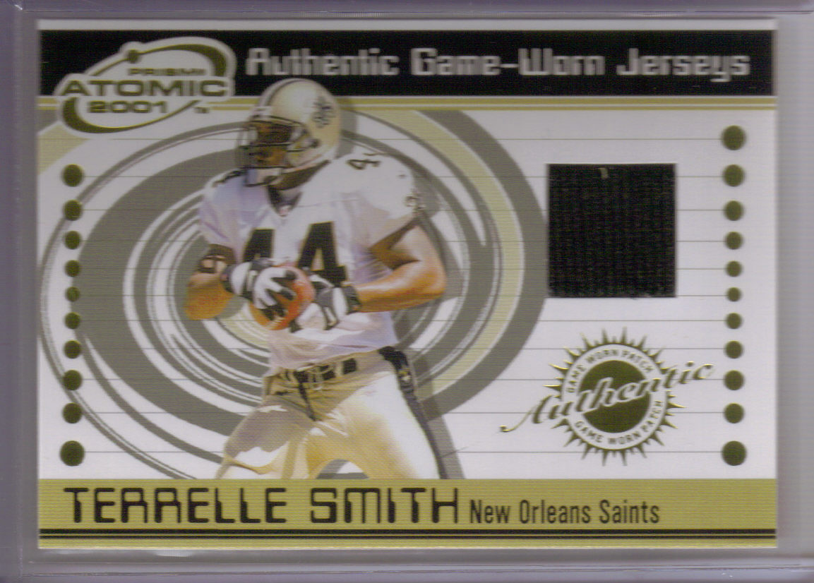 2001 Pacific Prism Atomic Jerseys #50 Terrelle Smith front image