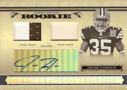 2006 Playoff National Treasures #145 Jerome Harrison JSY AU RC